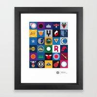 NBA Teams  Framed Art Print
