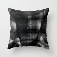 Throw Pillow featuring Hepburn by Robotic Ewe
