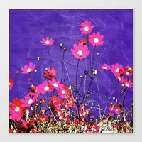 Coquetry floral Canvas Print