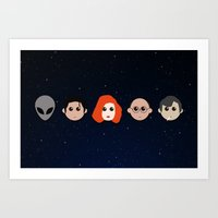 X Alien Dolls Art Print