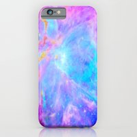nebula iPhone & iPod Cases featuring Orion nebulA : Bright Pink & Aqua by 2sweet4words Designs