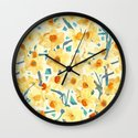 Yellow Jonquils Wall Clock