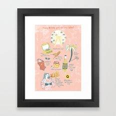 Trashy Birthday party @ Coney-Island Framed Art Print