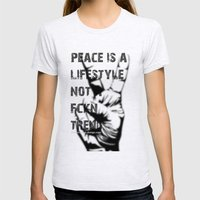 Peace Out!  Womens Fitted Tee Ash Grey SMALL