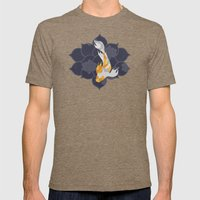 Koi Mens Fitted Tee Tri-Coffee SMALL