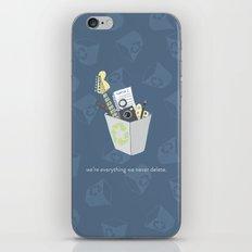 Never Delete iPhone & iPod Skin