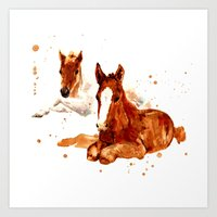 HORSE Art, Horse Paintin… Art Print