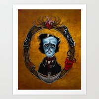 Poe in Color  Art Print