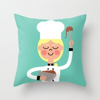 Throw Pillow featuring It's Whisk Time! by Mouki K. Butt