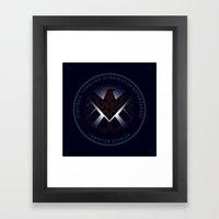 Hidden HYDRA - S.H.I.E.L.D. Logo with Wording Framed Art Print