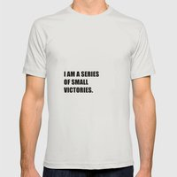 Small victories Mens Fitted Tee Silver SMALL