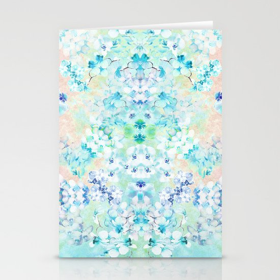 Pastel Flowers  Stationery Card