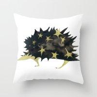 Star hedgehog Throw Pillow