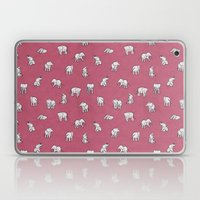 Indian Baby Elephants in Pink Laptop & iPad Skin