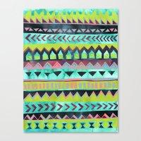 PATTERN {Tribal Stripe -… Canvas Print