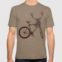 Stag Bike Mens Fitted Tee Tri-Coffee SMALL