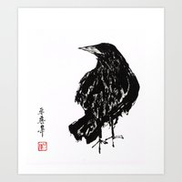 old crow Art Print