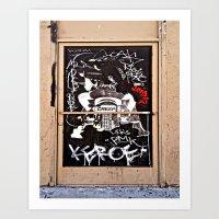 Grafitti Door - Creep Art Print