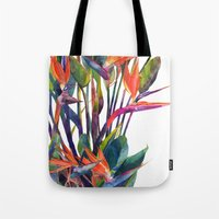 The bird of paradise Tote Bag