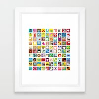 Elements Framed Art Print