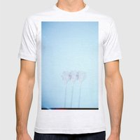Triple Exposed Palm Tree… Mens Fitted Tee Ash Grey SMALL