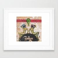 Donde se prueban Framed Art Print