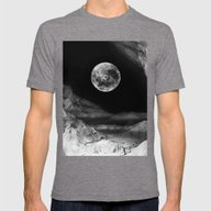 Between Two Moons Mens Fitted Tee Tri-Grey SMALL