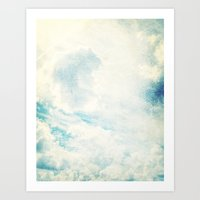 Somewhere | Beautiful Fluffy Clouds  Art Print
