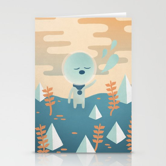 Space Traveler Stationery Card