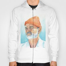 Steve Zissou Art | Watercolor Portrait Hoody