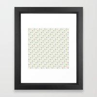 Pattern: Olive + Peach Arrows Framed Art Print