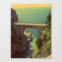 Bridge in Amalfi Coast, Italy Canvas Print