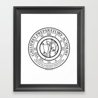 Gallifrey Prepatory Acad… Framed Art Print