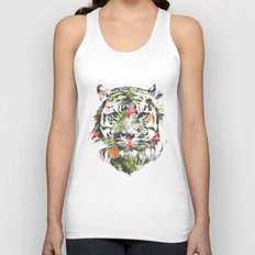 Tropical Tiger Unisex Tank Top