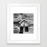 Summer space, smelting selves, simmer shimmers. 24, grayscale version Framed Art Print