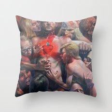 Orgía Caníval Throw Pillow