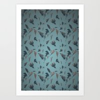 birds pattern Art Print