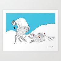 Centaur With Arrows Prin… Art Print