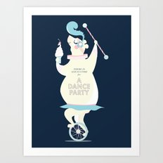 There is always time for a Dance Party (navy) Art Print
