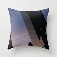 NYC Sunset Throw Pillow