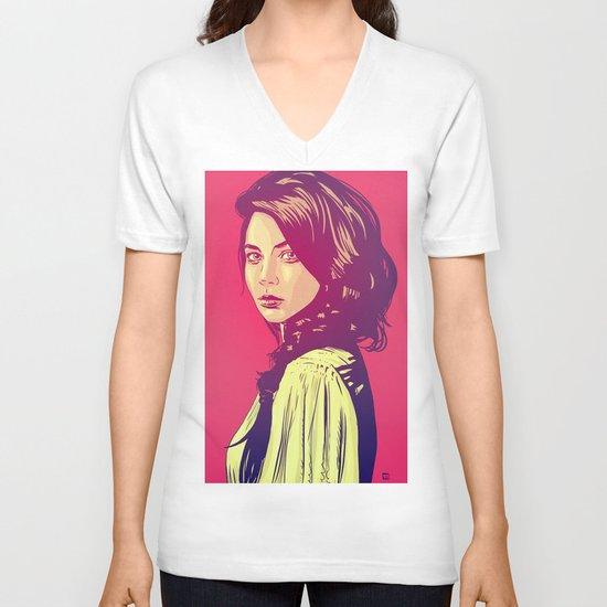 beauty V-neck T-shirt