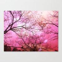 Surreal Pink Trees Natur… Canvas Print