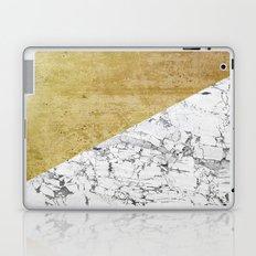 Marble vs GOld Laptop & iPad Skin
