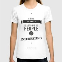 Ernest Hemingway Quote, … Womens Fitted Tee White SMALL