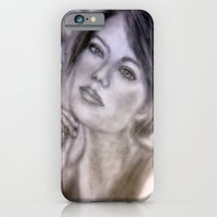 Pencil Portrait Drawing  - American Actress - Emma Stone iPhone 6 Slim Case