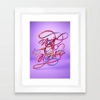 Now Or Never // Typograp… Framed Art Print