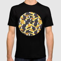 Toucans [yellow] SMALL Mens Fitted Tee Black