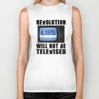 Revolution Will Not Be T… Biker Tank