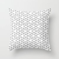 Karthuizer Grey & White Pattern Throw Pillow
