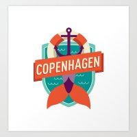 Copenhagen Art Print
